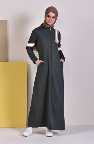 BWEST Pocket Sports Abaya 8336-04 Khaki 8336-04