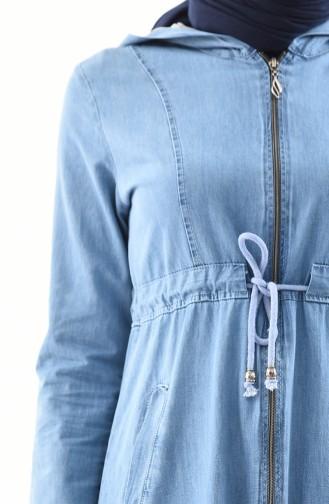 Hooded Jeans Abaya 4030-01 Blue Jeans 4030-01