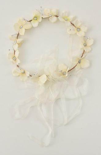 اكسسوارات شعر العروس أبيض 21