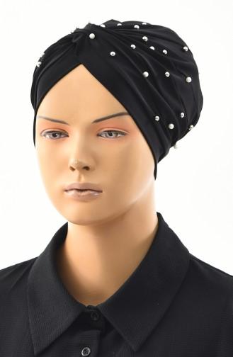 Pearl Cross Bonnet  0032-10 Black 0032-10