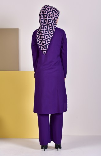 Tunik Pantolon İkili Takım 1197-03 Mor