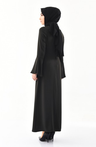 Kolyeli Elbise 2050-08 Koyu Haki