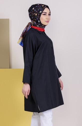 Tunique avec Poche 6352-01 Noir 6352-01