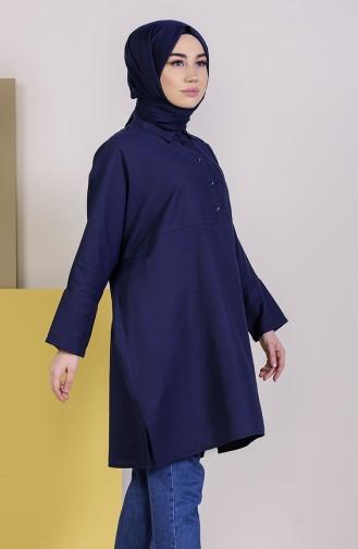 Tunique avec Poche 6352-02 Bleu Marine 6352-02