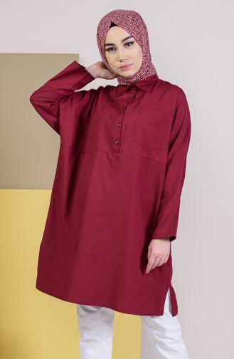 W.B Slit Pocketed Tunic 6352-10 Claret Red 6352-10