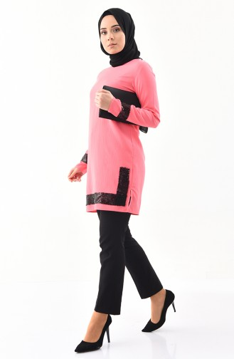 Sequined Tunic  9018-02 Pink 9018-02