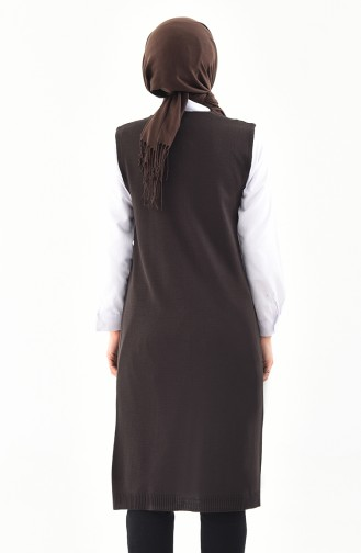 Slim Fit Knitwear Pocket Vest 9017-05 Brown 9017-05