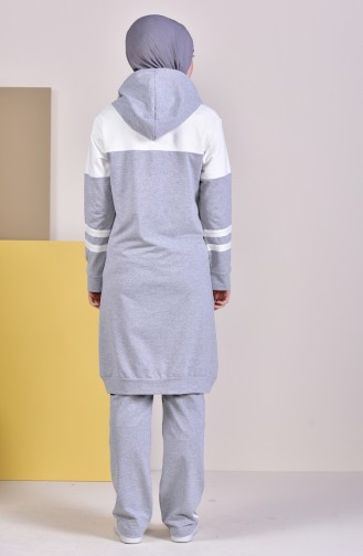 Hooded Tracksuit 19008-03 Gray 19008-03