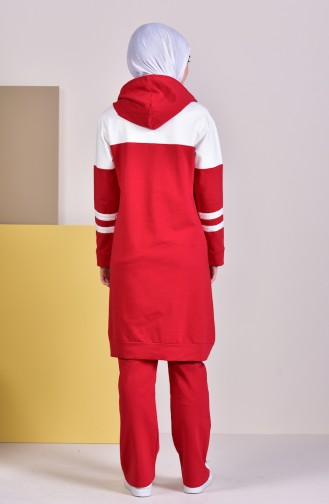 Hooded Tracksuit 19008-04 Red 19008-04