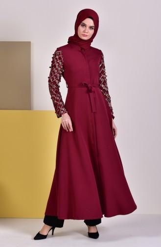 Claret red Abaya 8860-02