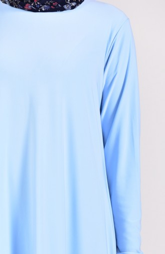 Tunik Pantolon İkili Takım 17781-12 Bebe Mavisi 17781-12