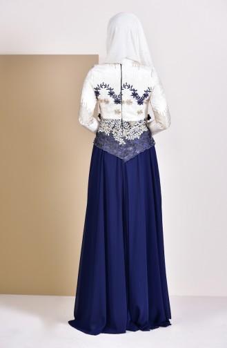 Robe de Soirée 8524-02 Bleu Marine 8524-02