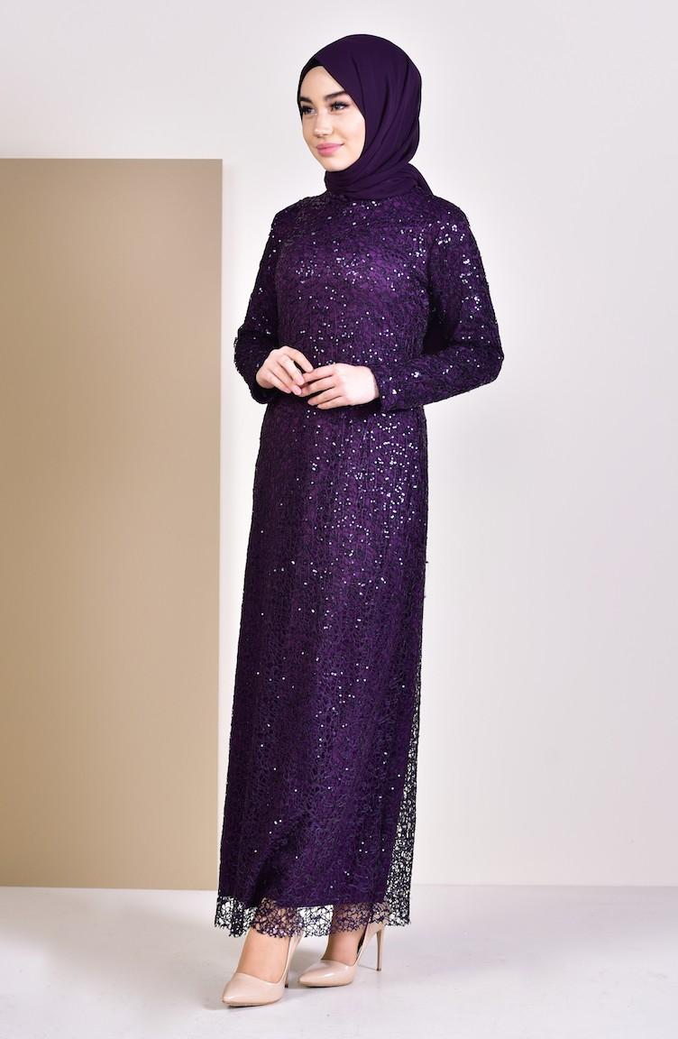 Lila Hijab Abendkleider 4114 05