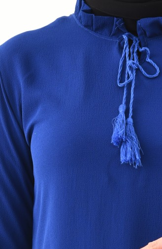 Tunique Froncée 0682-04 Bleu Roi 0682-04