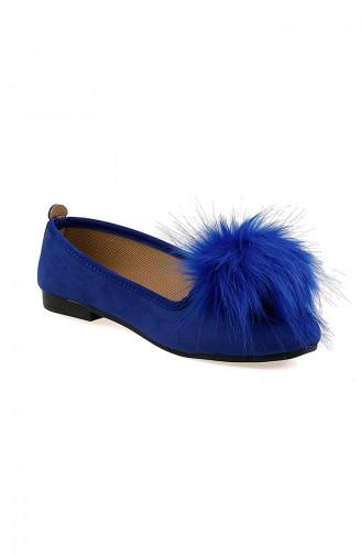 Blue Woman Flat Shoe 0115-02