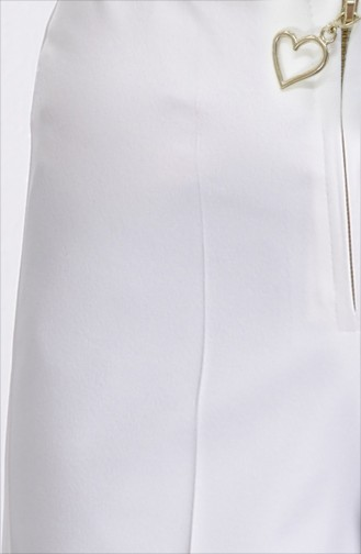 Pantalon Large a Fermeture 3095-10 Ecru 3095-10