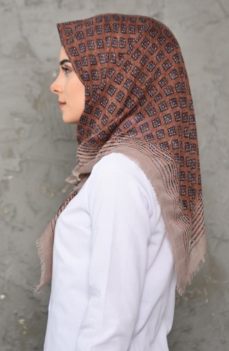 Honeycomb Woven Cotton Shawl 2200-02 light Mink 2200-02