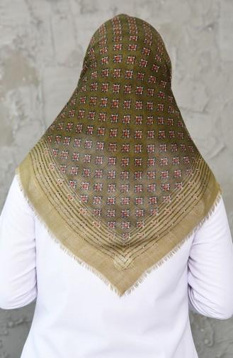 Honeycomb Woven Cotton Shawl 2200-16 Khaki 2200-16