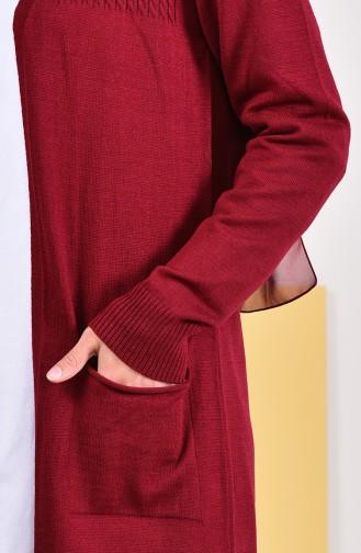 iLMEK Seasonal Pocketed Cardigan 4129-01 Claret Red 4129-01