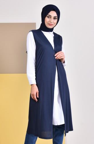Plain Seasonal Vest  7818-03 Navy Blue 7818-03