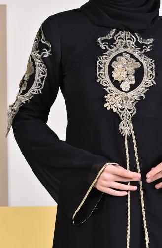 BURUN Laced Evening Dress 81647-01 Black 81647-01