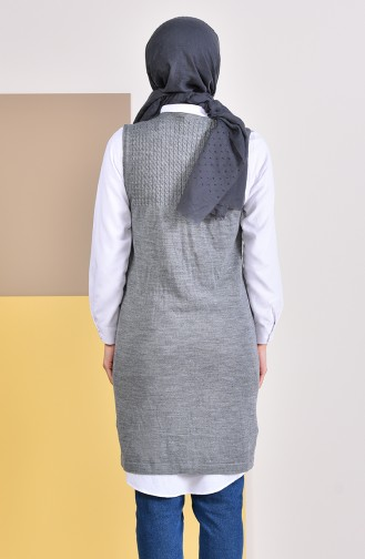 iLMEK Knitwear Pocketed Vest 4121-13 Dark Gray 4121-13