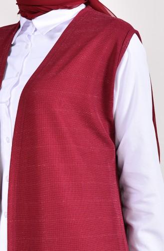 Silvery Seasonal Vest 7817-01 Plum 7817-01