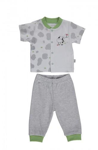 Bebetto Penye Mini Pijama Takımı F1005 Yeşil 1005