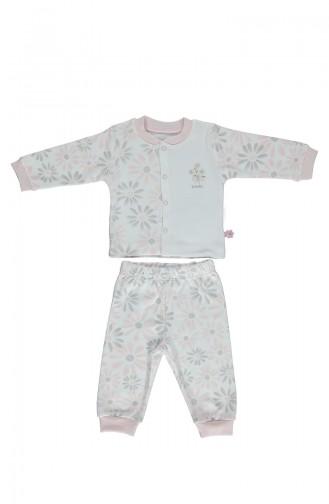 Bebetto Penye Mini Pijama Takımı F1007-01 Pembe