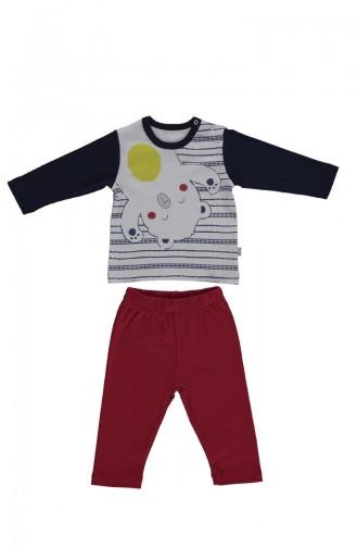 ببيتو طقم بيجامة أطفال بتصميم قطن F1011 لون كحلي 1011