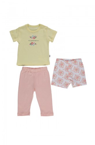 Bebetto Cotton Pajama Set F994-01 Yellow 994-01