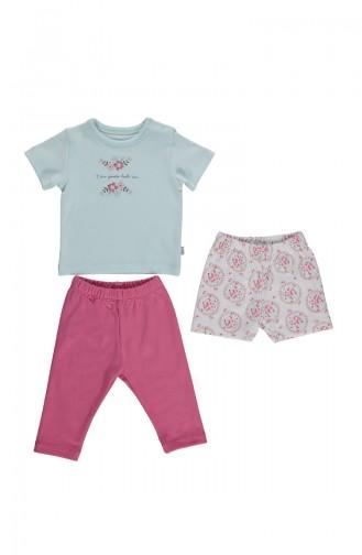 Bebetto Cotton Pajama Set F994-02 Mint 994-02
