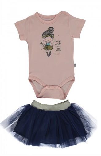 Bebetto Tunic Skirt 2-Pisces Set K2090-01 Salmon 2090-01