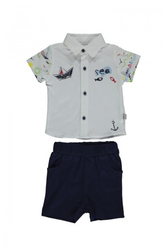 Bebetto Penye Gömlek 2 li Takım K2109 Lacivert