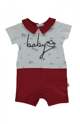 Red Baby Overall 2153-01