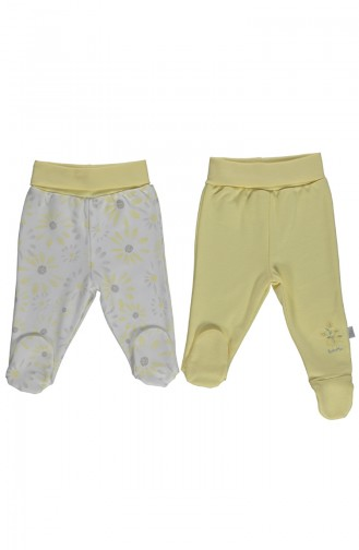 Bebetto Cotton Footed Pants 2 Pcs T1738-01 Yellow 1738-01