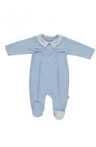 Bebetto Penye Bebe Yaka Patikli Tulum T1793 Mavi