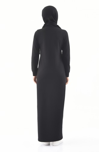 Pocket Sports Abaya  8372-03 Black 8372-03