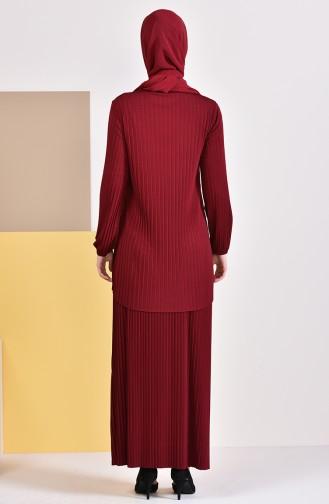 YNS  Sandy Tunic Skirt Double Suit 4116-01 Bordeaux 4116-01