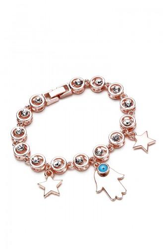 Rosa Haut Armband 9487