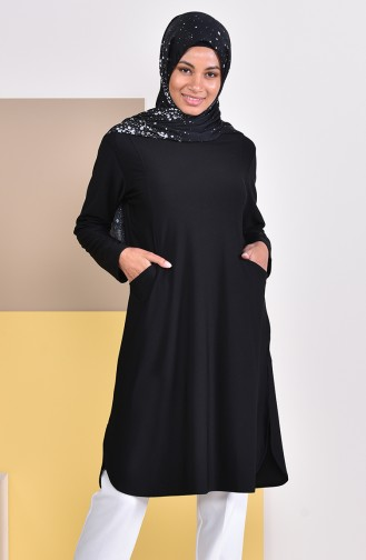 Pocketed Tunic 50307-01 Black 50307-01