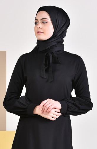 Kravat Yaka Tunik 5018-01 Siyah