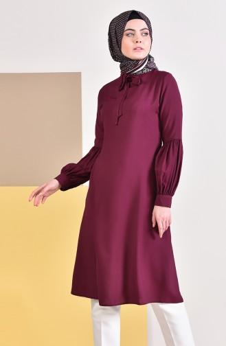 Kravat Yaka Tunik 5018-03 Vişne