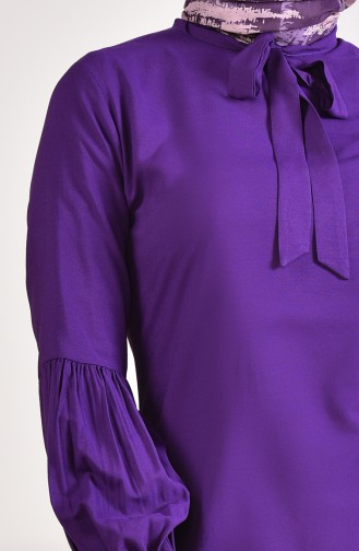 Tunique Col Cravate 5018-04 Pourpre 5018-04