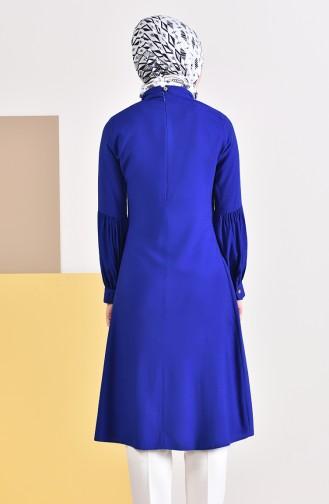 Kravat Yaka Tunik 5018-05 Saks