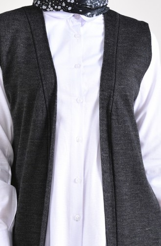 Slim Fit Knitwear Pocket Vest 4128-14 Anthracite 4128-14