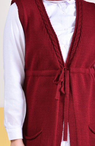 Pocket Vest 4130-01 Claret Red 4130-01