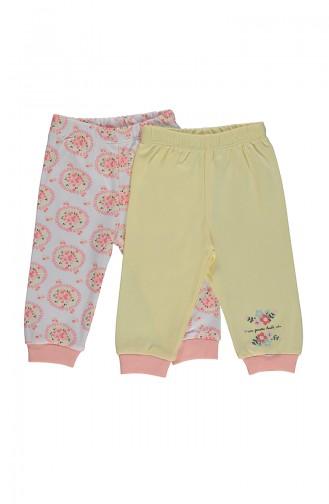 Bebetto Cotton Pants 2 Pcs T1691 Yellow 1691