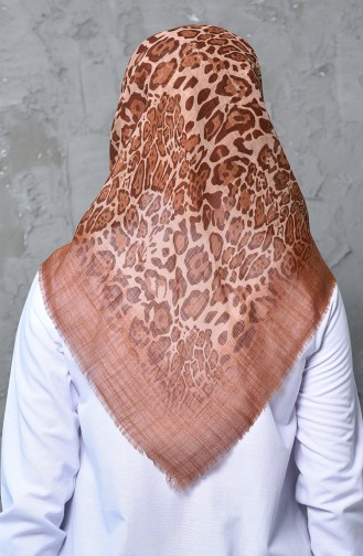 Patterned Flamed Cotton Scarf 901462-02 Cinnamon 901462-02