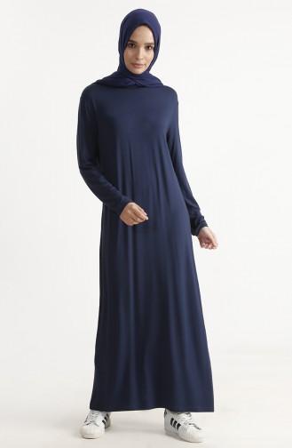 Basic Kleid 1243-01 Dunkelblau 1243-01